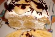 Banános túrótorta sütés nélkül